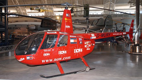 Robinson R-44 Astro in Udvar-Hazy Center   by J.Comstedt