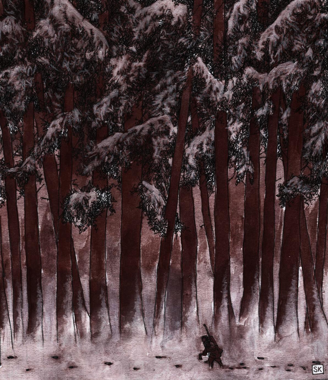 El Wendigo, rastros en el bosque. Bastian Kupfer.
