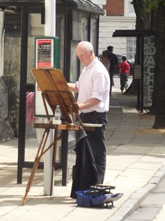 Artist at work - High Street, Winchester | by ell brown