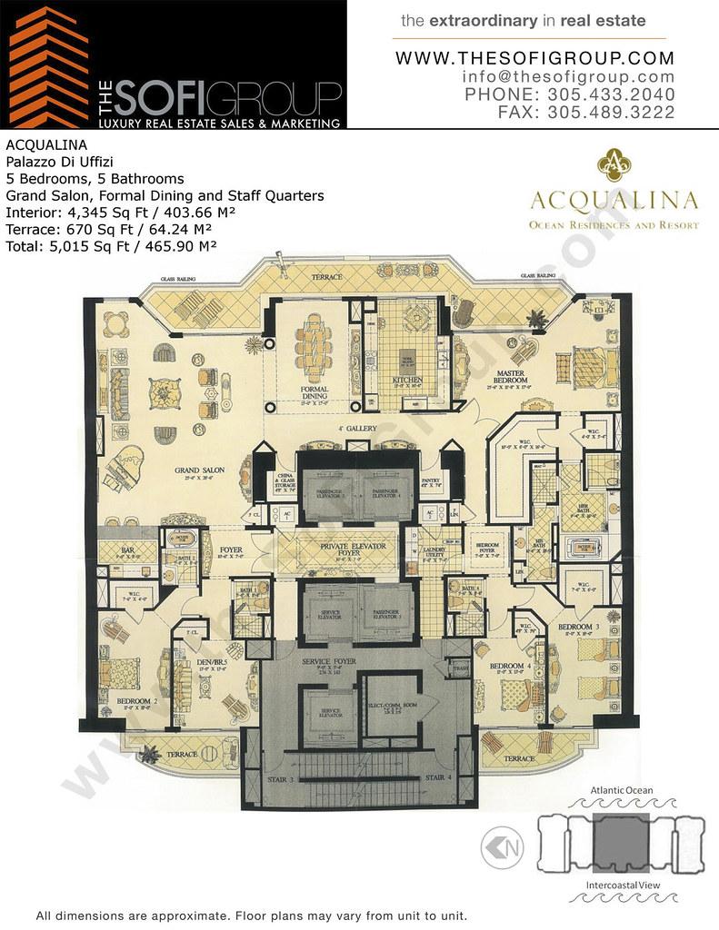 The Mansions At Acqualina Condos Sunny Isles Floor Plan Flickr