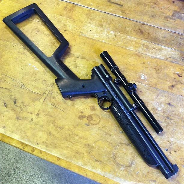 Selling this too, $150obo Custom Crosman 1377 Carbine  177