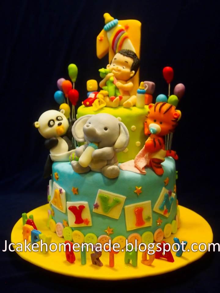 Superb Animals Birthday Cake Happy 1St Birthday Jayvin Thanks Sh Flickr Funny Birthday Cards Online Benoljebrpdamsfinfo