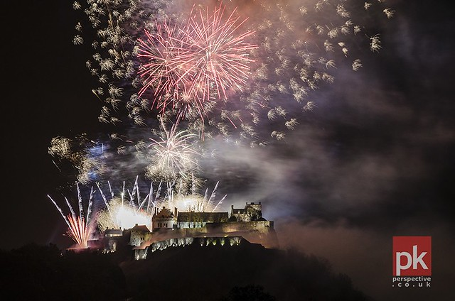 Stirling Castle New Year Fireworks 2014