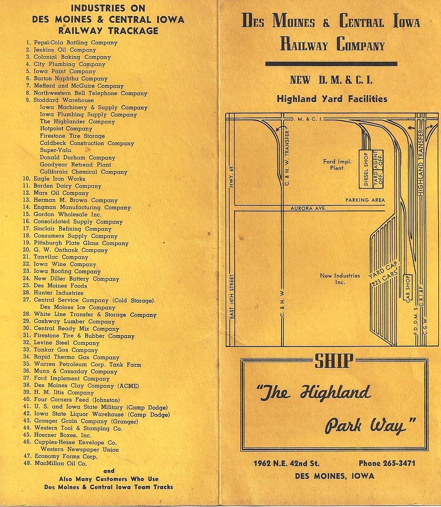 Des Moines, Iowa, DMCI, Des Moines & Central Iowa Railway ...