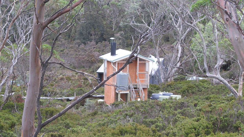 Waterfall Valley Hut behind the loo