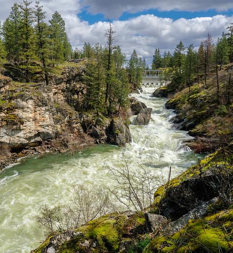 South Dam on Spokane River at Post Falls, Idaho   by Stan Petersen