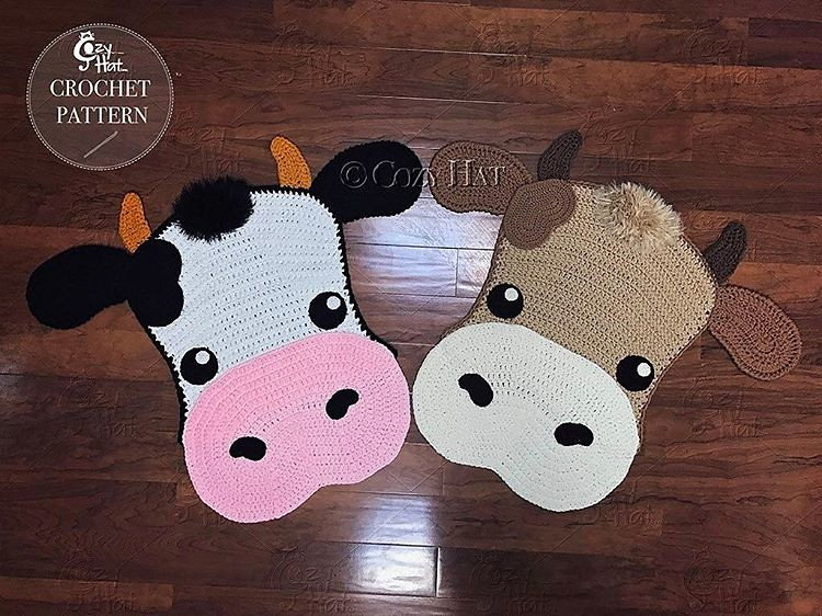 Molly The Cow Rug New Crochet Pattern Release By Cozy H Flickr