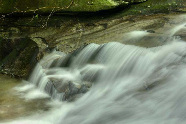 Unnamed waterfall 1, Looking Glass Creek, Pisgah National Forest, Transylvania County, North Carolina