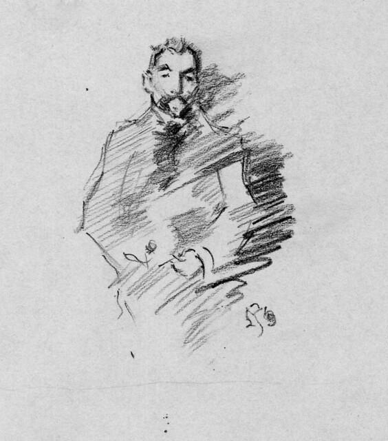 """Copy of J.M.Whistler's """"Stephane Mallarme"""""""
