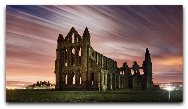 A moonlit night at Whitby Abbey