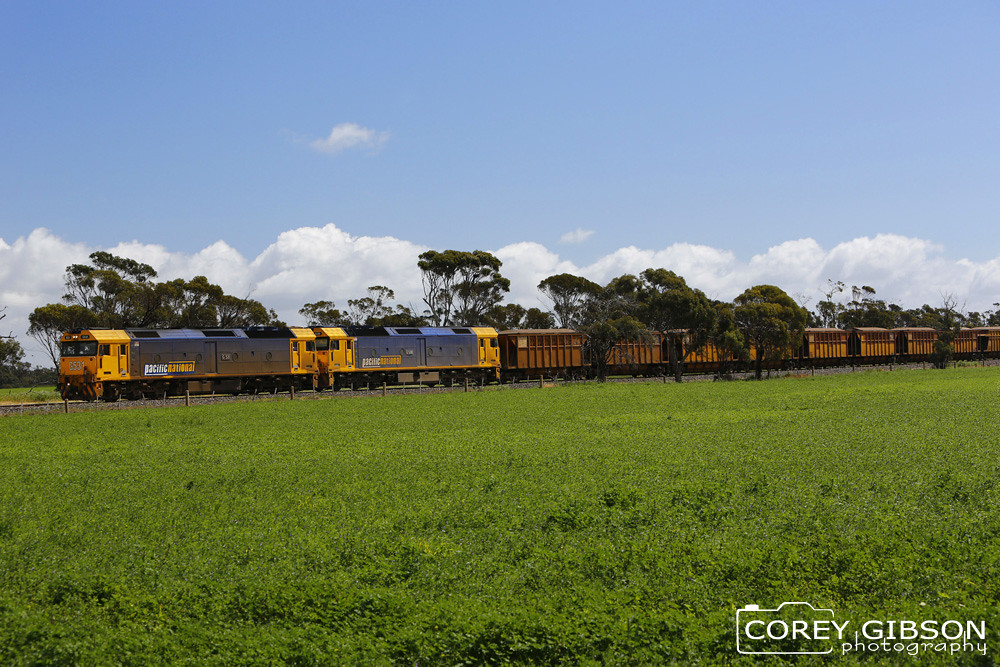 G531 & G530 hauling the Mineral Sands out of Beulah by Corey Gibson