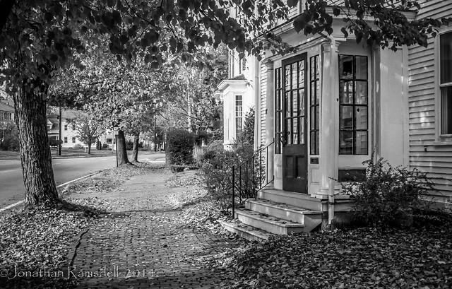 North Street Sidewalk - Autumn
