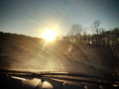 sunset sun window car evening crossing pennsylvania north hills flare dashboard windshield 4s iphone mccandless mccandlesscrossing