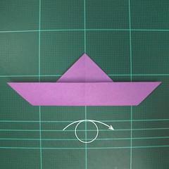 วิธีพับกระดาษเป็นนกพิราบแบบง่าย (Easy Origami Pigeon) 005