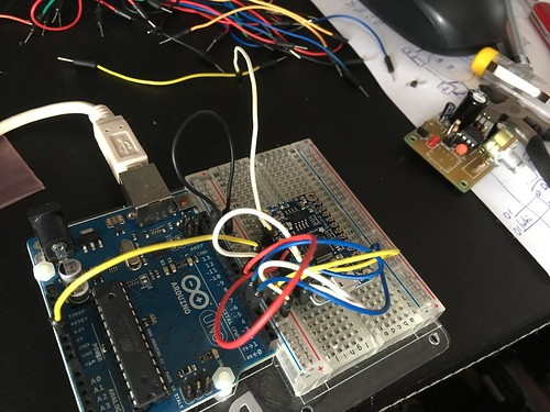 Test wiring of Arduino and Adafruit FX board | by tskynet