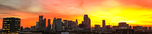 cityscape skyline sunset sky colors clouds dallas