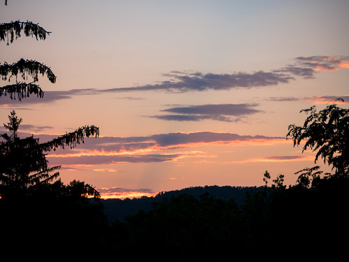sky morriscounty sunset newjersey clouds morristown unitedstates us