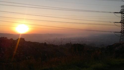 africa sunset sky sun skyline buildings southafrica johannesburg