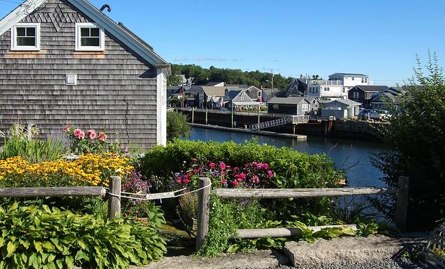 Private Garden in Perkins Cove, Maine