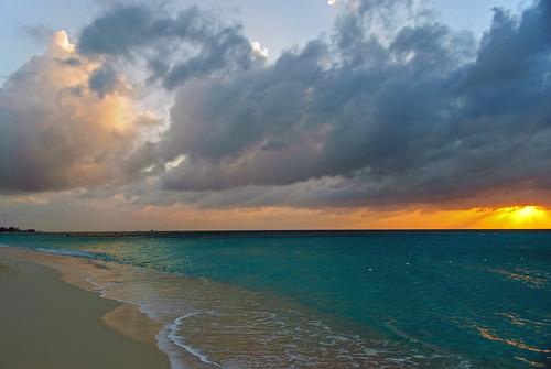 travel sunset beach landscape evening dusk caribbean cayman caymanislands grandcayman waterscape d60 sevenmilebeach nydavid1234