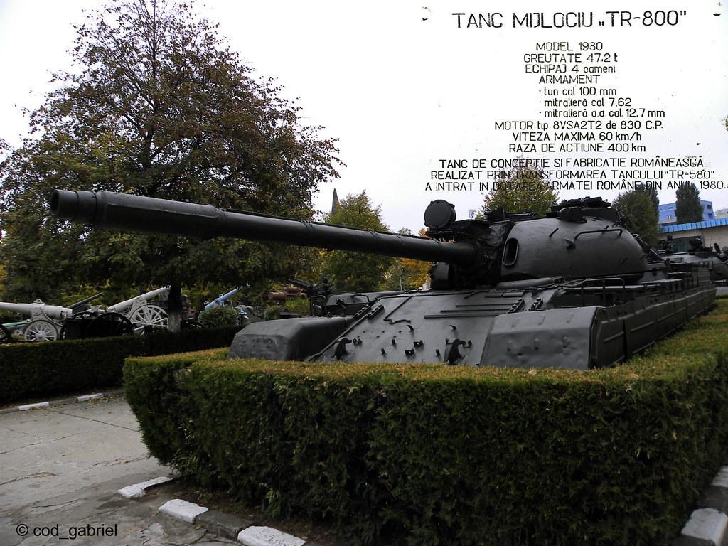 Medium tank TR-800 | Romanian made tank. 1980 model; Weight:\u2026 | Flickr
