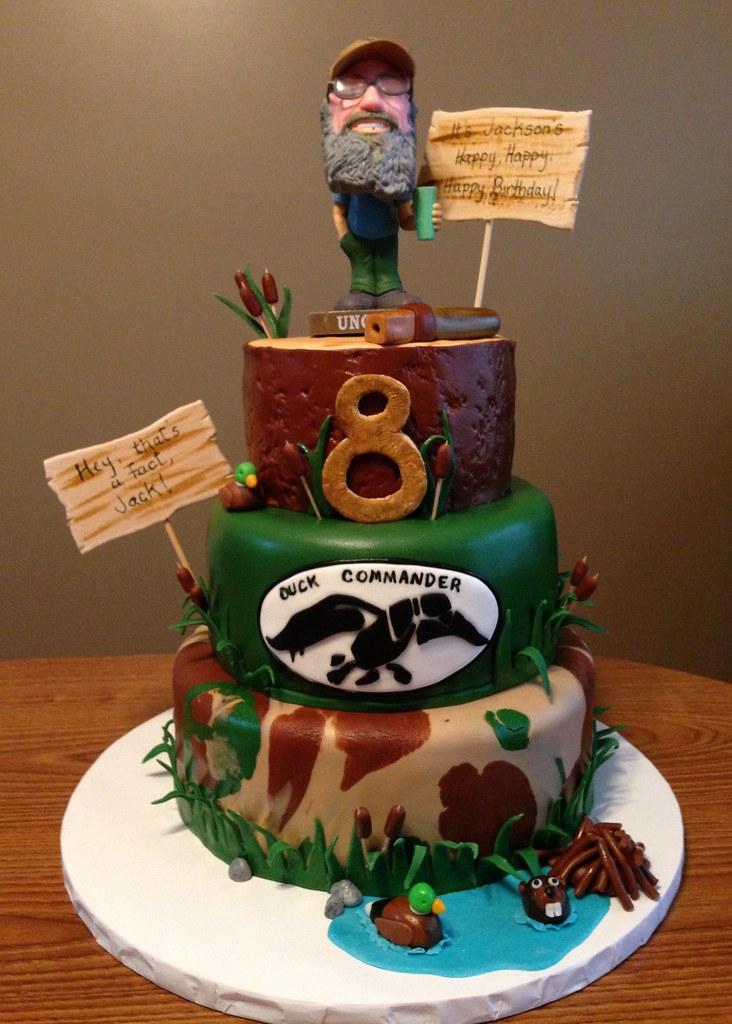 Enjoyable Duck Dynasty Cake Duck Dynasty Birthday Cake Mm Fondant C Flickr Personalised Birthday Cards Veneteletsinfo