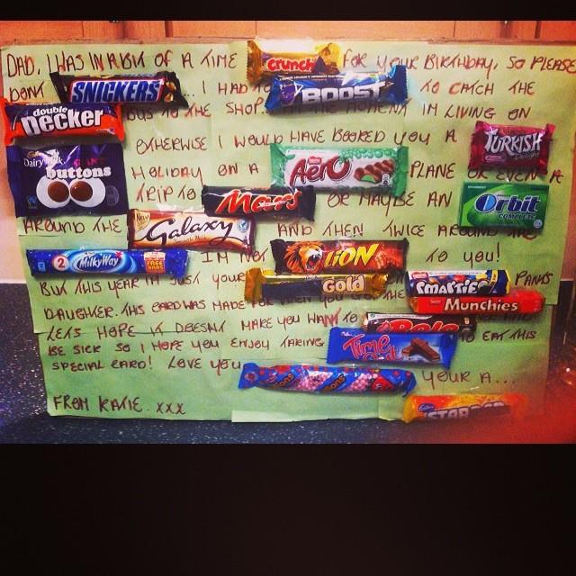 Best Daughter Dad Present Everrr Birthday Cute Chocolate