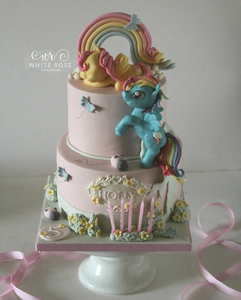 Outstanding My Little Pony 5Th Birthday Cake By White Rose Cake Design Funny Birthday Cards Online Alyptdamsfinfo