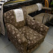 Mixed fabric lounger ideal for reupholstering E70