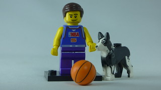 Brick Yourself Custom Lego Figure Basaketballer & Dog | by BrickManDan