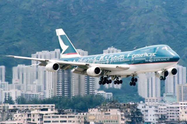 Cathay Pacific   Boeing 747-200   B-HIB   The Spirit of Hong Kong 97 livery   Hong Kong Kai Tak