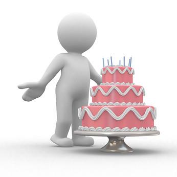 Enjoyable Birthday Cake 3D Human On Front Of A Big Birthday Cake Mhtrf Personalised Birthday Cards Petedlily Jamesorg