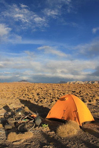 Camp between San Pablo and San Antonio de Lipez | by Pikes On Bikes