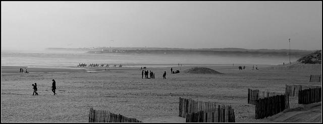 Plage du Touquet, un jour de brume