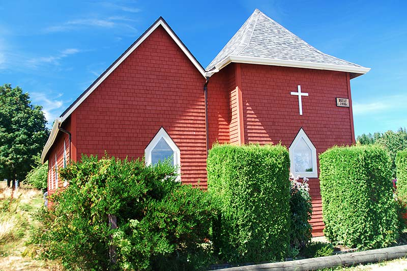 Church in Union Bay, Vancouver Island, British Columbia