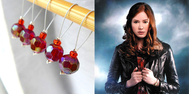 Amy Pond - Exchanging Fire Stitch Markers