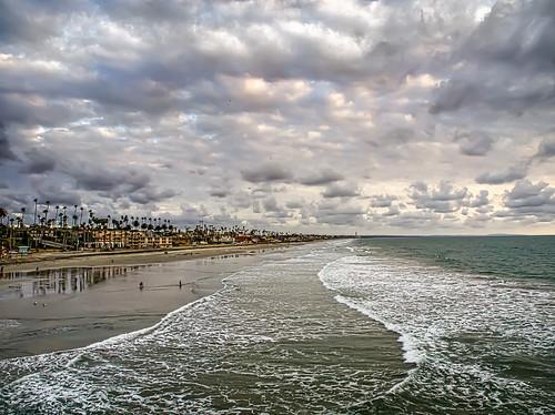 ocean california clouds waves unitedstates oceanside
