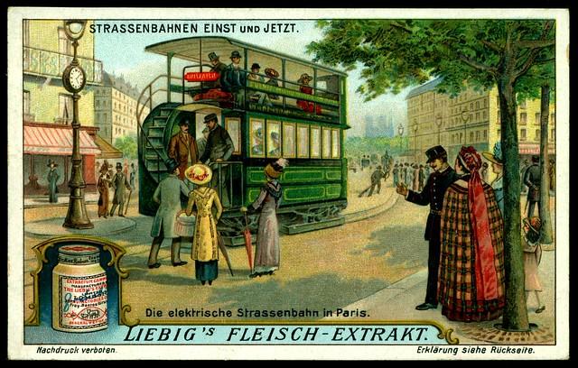 Liebig Tradecard - S1104 Tramways