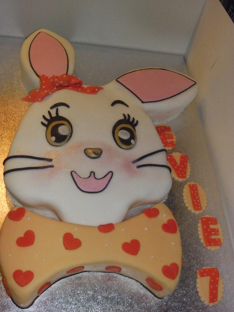 Pleasing Bunny Birthday Cake Mandys Homemade Cakes Flickr Birthday Cards Printable Riciscafe Filternl