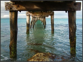 Colours under the pier at Robe, 2006. Peter Neaum_