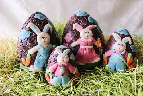 Oster-Schokolade mit Marzipan