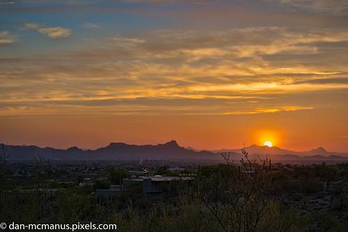 campbell trailhead twin peaks arizona sunset tucson campbelltrailhead twinpeaks flickrsbest