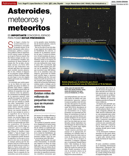 Zoco Astronomía: Asteroides, meteoros y meteoritos | by Ángel López-Sánchez