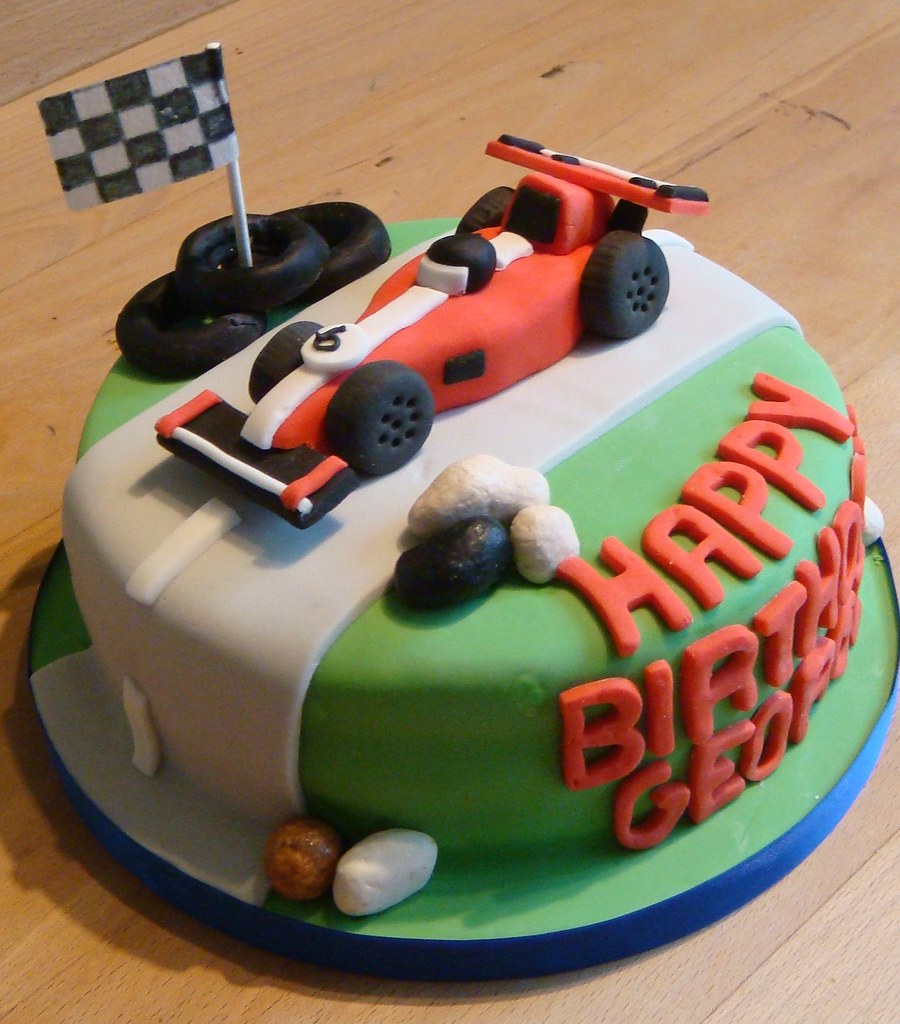Super All Sizes Racing Car Birthday Cake Flickr Photo Sharing Funny Birthday Cards Online Elaedamsfinfo
