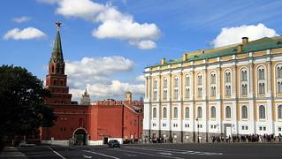 The Borovitskaya Tower and the Armory Chamber inside the Kremlin Walls | by jmenard48
