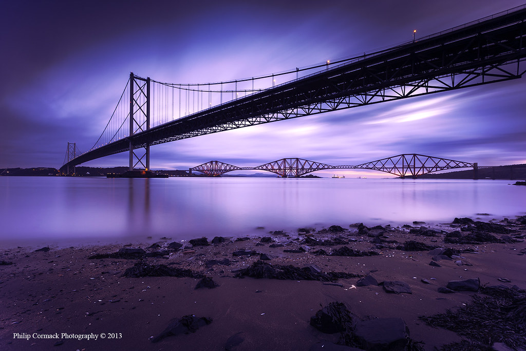 Forth Road & Rail Bridge at Sunrise