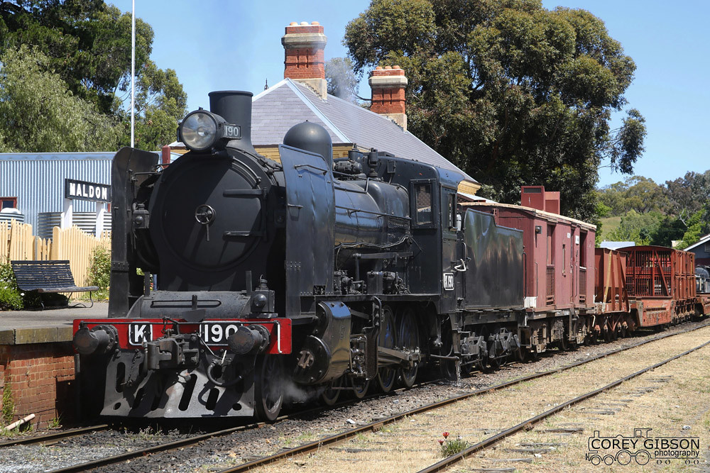 K190 - Victorian Goldfields Railway by Corey Gibson
