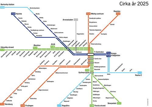 Linjekarta, schematisk   by SallyhillKommunikation