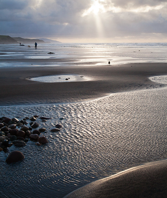 St Bees Beach in Winter