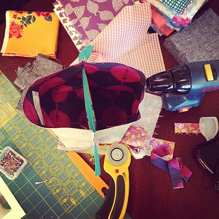I love a creative mess. Side note. A toy drill is essential to sewing.